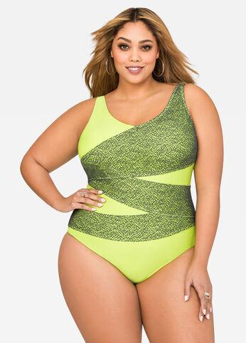 Neon Power Mesh Swimsuit