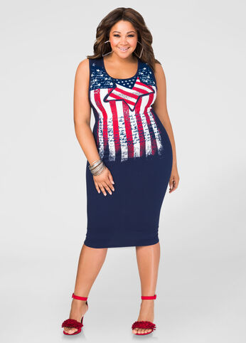 Stars And Stripes T-Shirt Dress