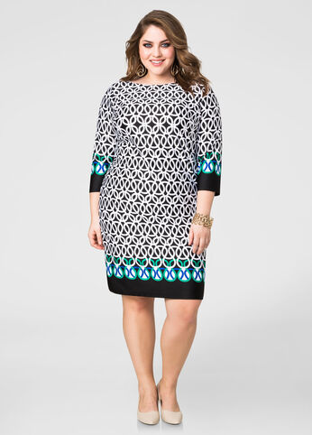 Contrast Border Shift Dress