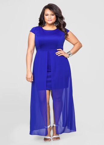 Georgette Overlay Sheath Dress