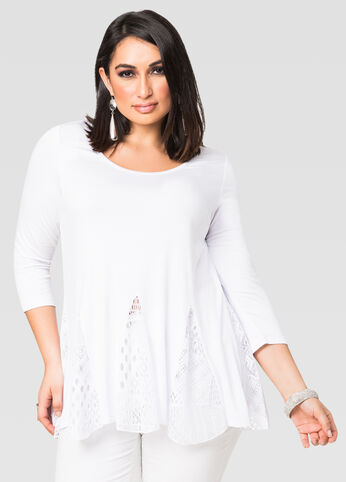 Lace Mix Tunic Top