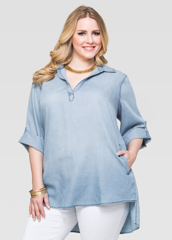 Hi Lo Denim Tunic