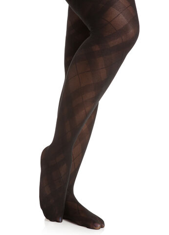 Diamond Plaid Tights
