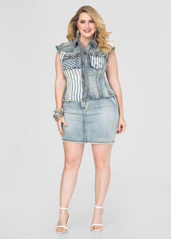 Americana Jean Mini Skirt