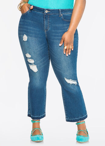 Bootcut Kick Flare Ankle Jean