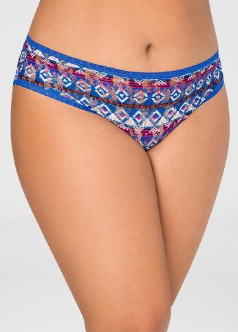 Tribal Print Bikini Panty