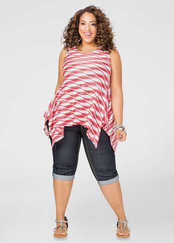 Shop this look with plus size jeans and stripe top