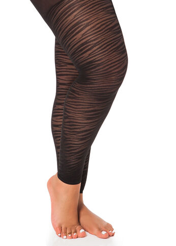 Zebra Stripe Footless Tights