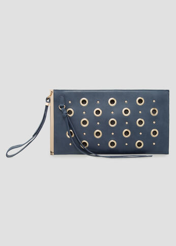 Grommet Bar Wristlet Clutch at Ashley Stewart