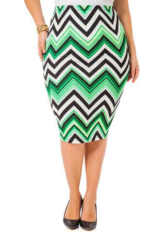 Chevron Stripe Pencil Skirt
