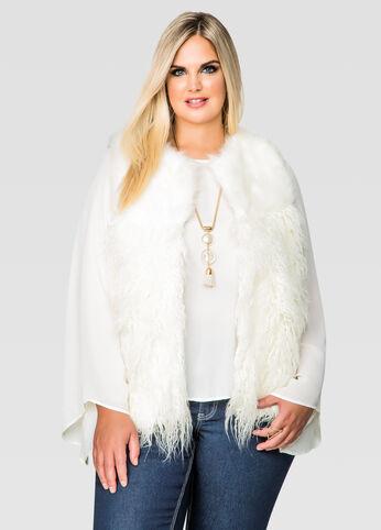 Faux Angora Fur Vest