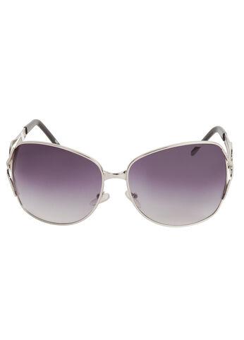 Silver Open Lens Sunglasses