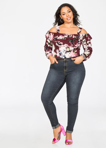 Plus Size High Waist Jeans | Ripped Distressed   More | Ashley