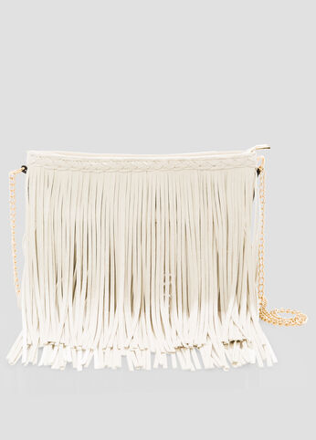 Chain Link Fringe Crossbody Bag