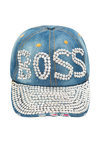 Denim Stud Boss Baseball Hat