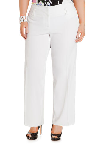 2-Button Straight-Leg Pants