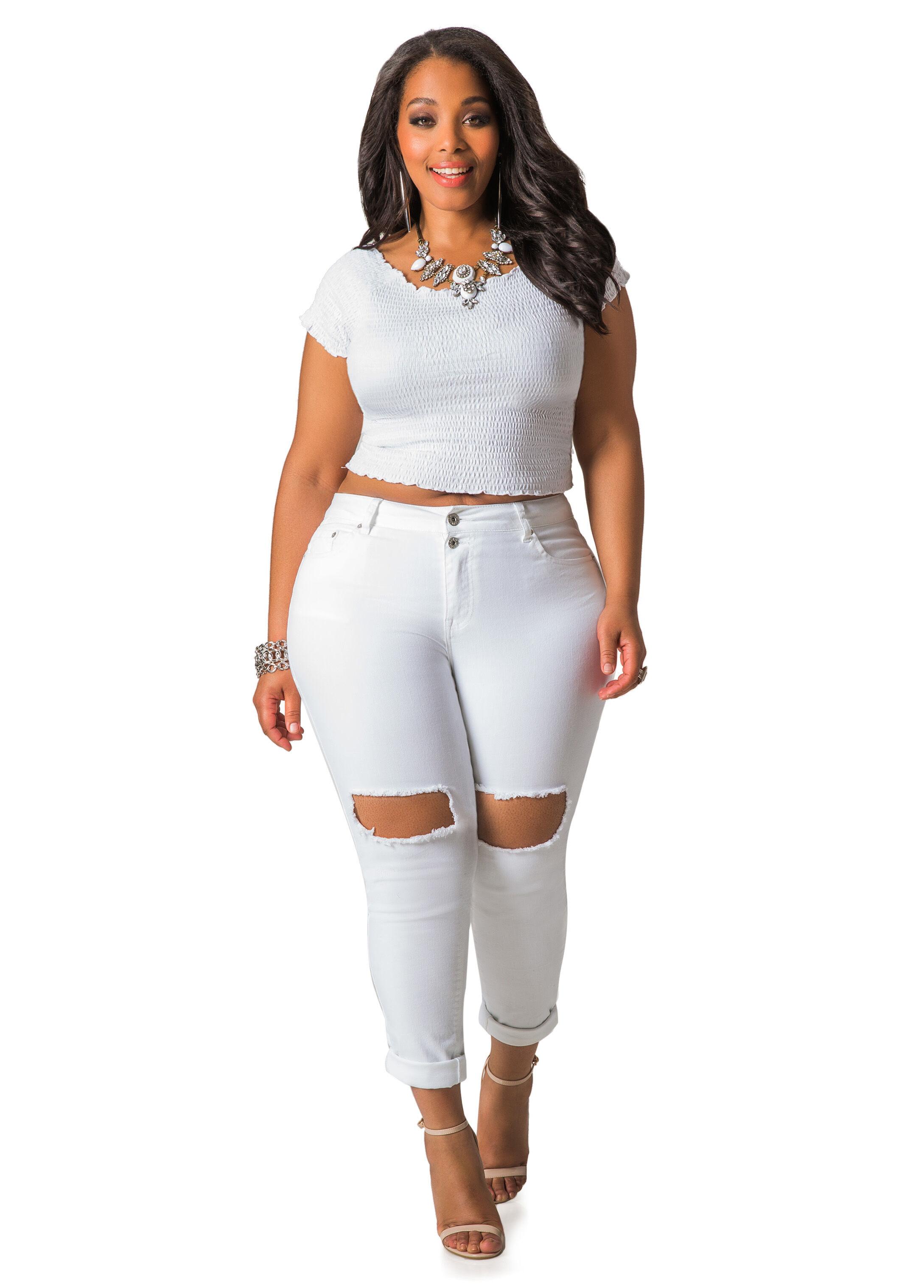 White Plus Size Jeans lWkM3ixv