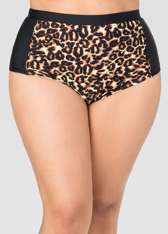 Leopard High Waist Bikini Bottom