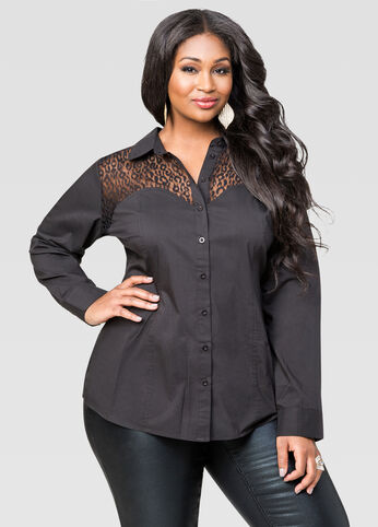 Animal Lace Sweetheart Shirt