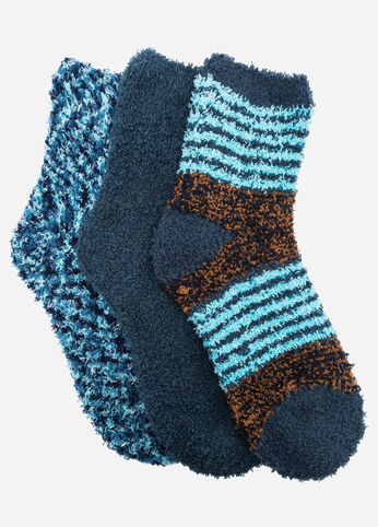 Striped Marled 3-Pack Cozy Socks