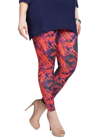 Abstract Print Legging
