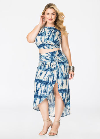 Tie-Dye Knot Skirt