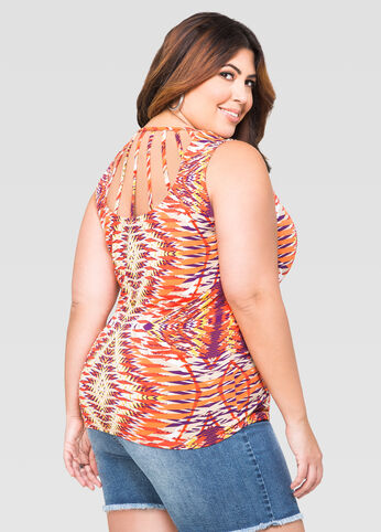 Cage Back Tribal Top