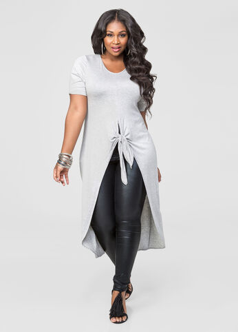 Knot Front Scoop Neck Duster