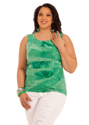 Sleeveless Tie Dye Burst Top