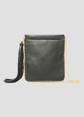 Chain Trim Slim Shoulder Bag