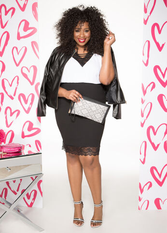 Slayed in Leather Plus Size Outfit