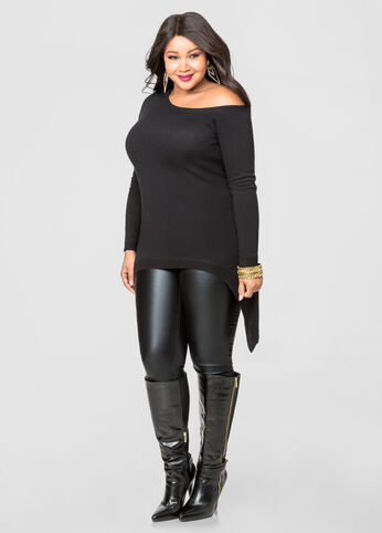 Hint Of Cashmere Hi-Lo Tunic Sweater
