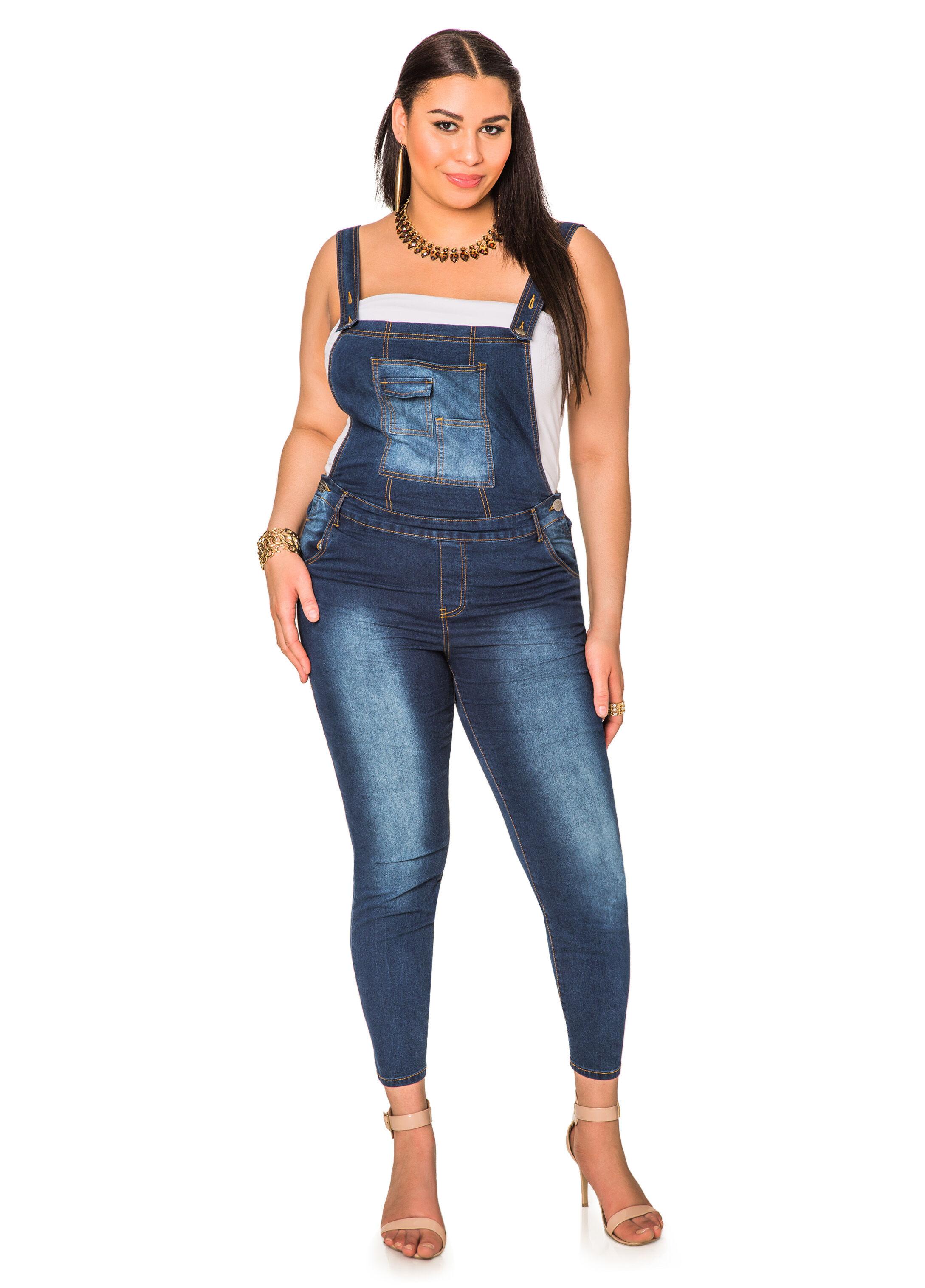 Plus Size Jean Overalls JSHGUMh2
