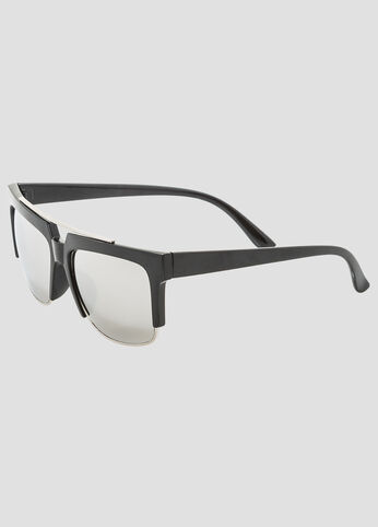 Mirror Lens Top Bar Wayfarer Sunglasses