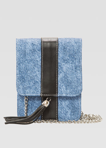 Mini Denim Crossbody Bag