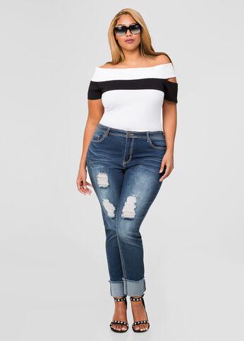 Cropped Cuffed Skinny Jean