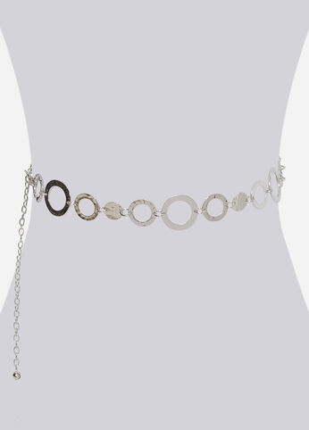 HAMMERED METAL CHAIN BELT