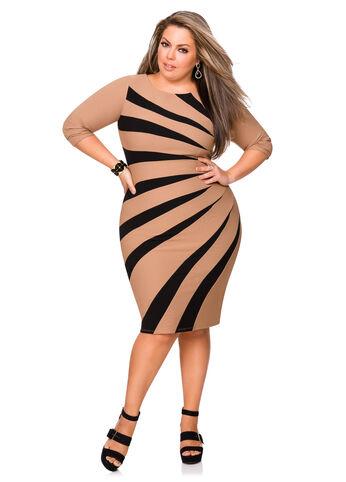 Sunburst Bodycon Dress