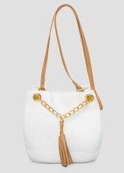 Small Straw Bucket Bag