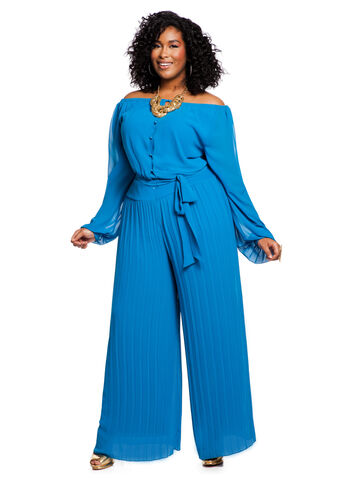 Peasant Top Pleated Jumpsuit