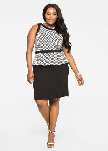 Honeycomb Peplum Dress