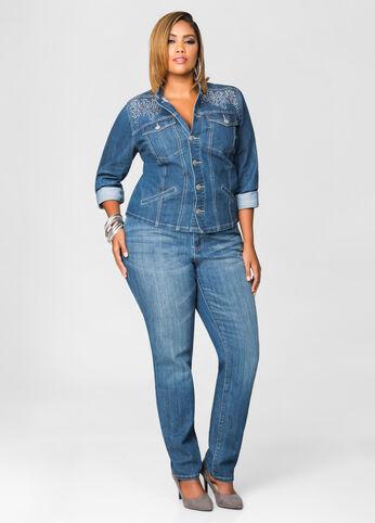 Stud Stone Side Skinny Jean