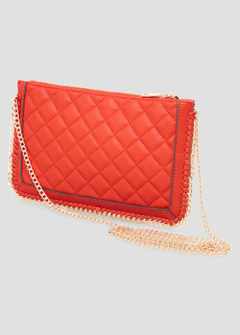 Quilted Chain Link Shoulder Bag