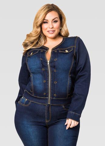 Zip Front Jean Jacket
