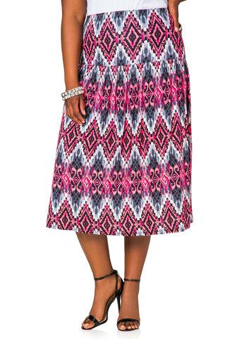 Ikat Print Long Skirt