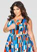 Colorblock Zip Skater Dress