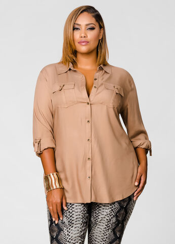 Challis twill D-Ring Blouse