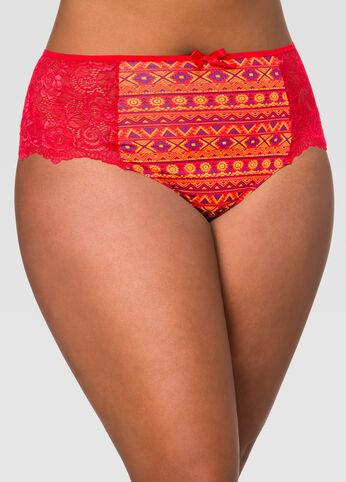 Lace Back Tanga Hipster Panty