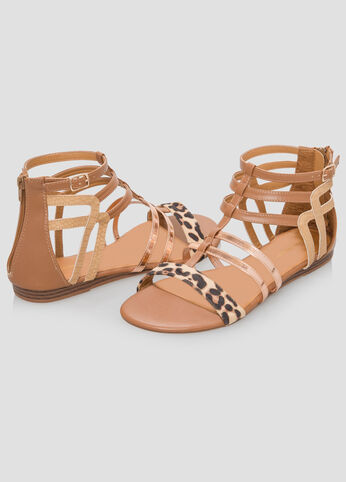 Animal Gladiator Sandal - Wide Width