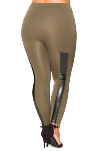 Faux Leather Seamless Legging